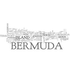 where is bermuda text word cloud concept vector image vector image