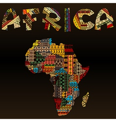 Africa map with African typography made of vector image