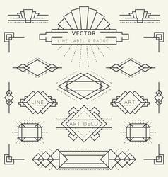 Art deco line vector