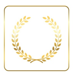Gold laurel wreath Symbol vector image vector image