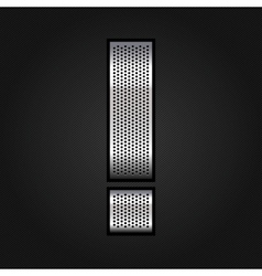 Letter metal chrome ribbon - Exclamation mark vector image vector image
