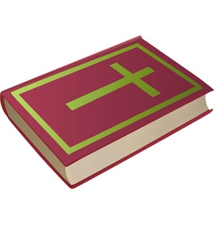 bible with cross on cover vector image vector image