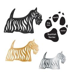 Scottish Terrier dog icon on white background vector image