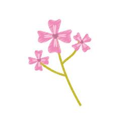 pink flower decoration image sketch vector image vector image