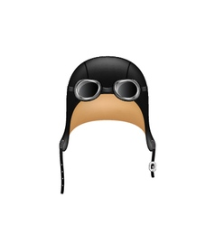Retro hat in black design and goggles vector image vector image