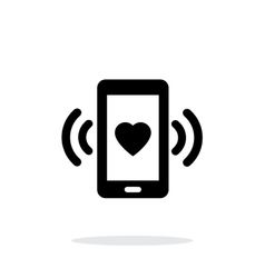 Romantic phone call icon on white background vector image