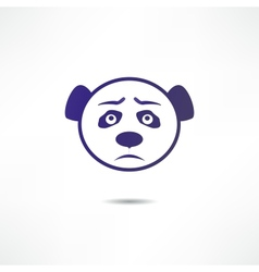 Sad panda vector image