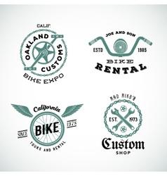 Set of retro bicycle custom labels or logos vector