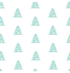 Stock Seamless Blue Christmas Tree Pattern vector image