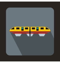 A colorful monorail train icon flat style vector