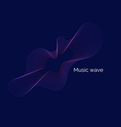 Abstract background with dynamic music vector