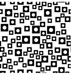 Abstract squares seamless pattern on white vector