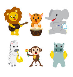 animals playing music vector image