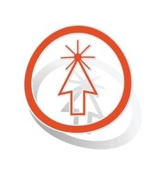 Arrow cursor sign sticker orange vector image