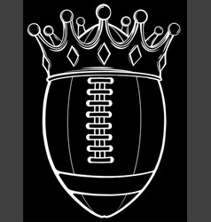 Ball with crown design silhouette in black vector