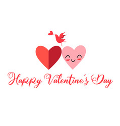 beautiful greeting card with hearts vector image