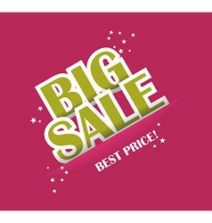 Big sale text with copy space vector image
