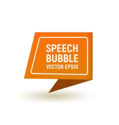 bubble speech orange vector image