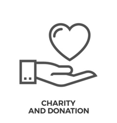Charity and donation vector image