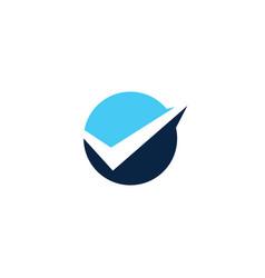 Circle round check logo icon badges vector