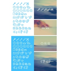Cleanse Icons Set on blurred background vector