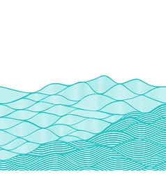Colorful abstract hand-drawn pattern waves vector