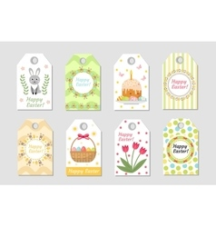 cute easter tags set labels collection vector image