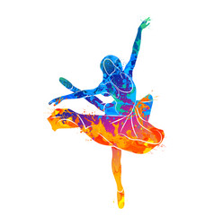 Dancing girl colorful vector