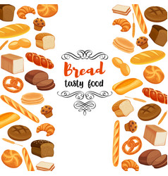 Design food with bread products vector