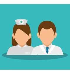 doctors avatars characters icon vector image
