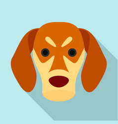 dog face icon flat style vector image