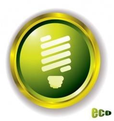 eco bulb icon vector image