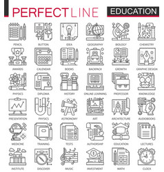 education outline mini concept symbols modern vector image