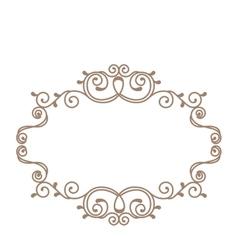 elegant victorian frame icon vector image