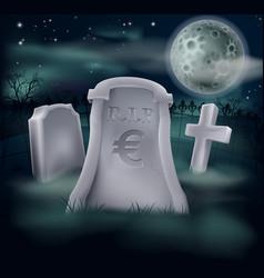 Euro grave concept vector