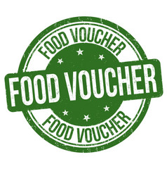 food voucher sign or stamp vector image