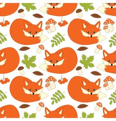 Fox Seamless Pattern vector