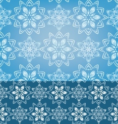 Geometric Snowflakes Seamless pattern background vector image
