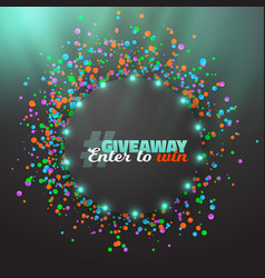 giveaway button template vector image vector image
