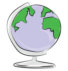globe on white background vector image