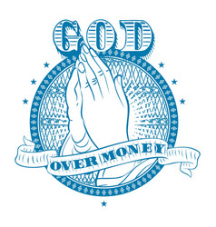 God over money vector