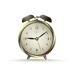 golden alarm clock vector image