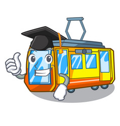 Graduation electric train isolated with the vector