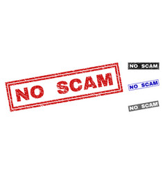 Grunge no scam scratched rectangle watermarks vector