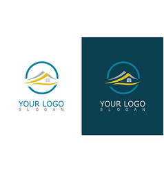 home roof logo vector image