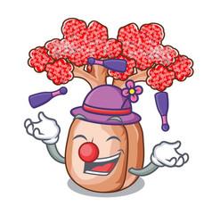 Juggling bottle shaped tree on a cartoon vector