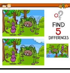 Kindergarten task of differences vector