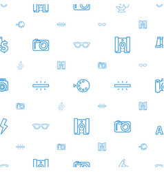 Lens icons pattern seamless white background vector