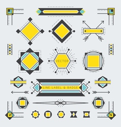 Line and geometric labels and badges vector
