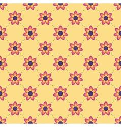 Lovely flower pattern vector image